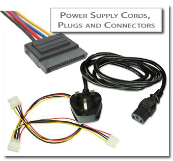 POWER SUPPLY CORDS, PLUGS AND CONNECTORS